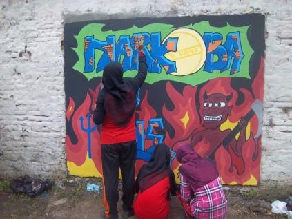 Gambar lukisan mural, grafiti atau lukisan dinding 039